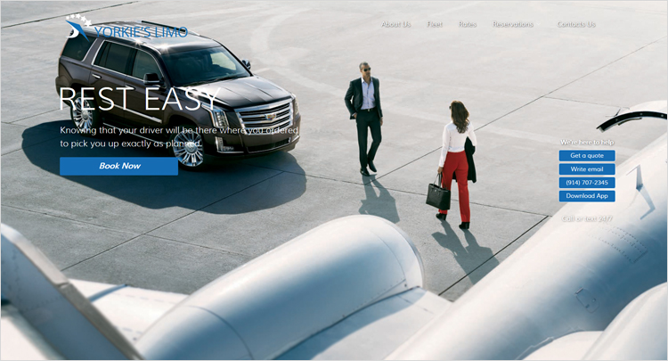 Best web design company for limo service