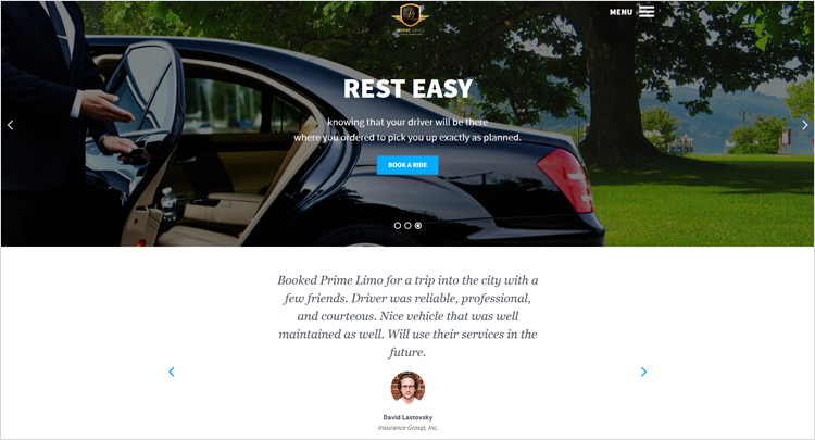 Web design company created new and modern look for limo service