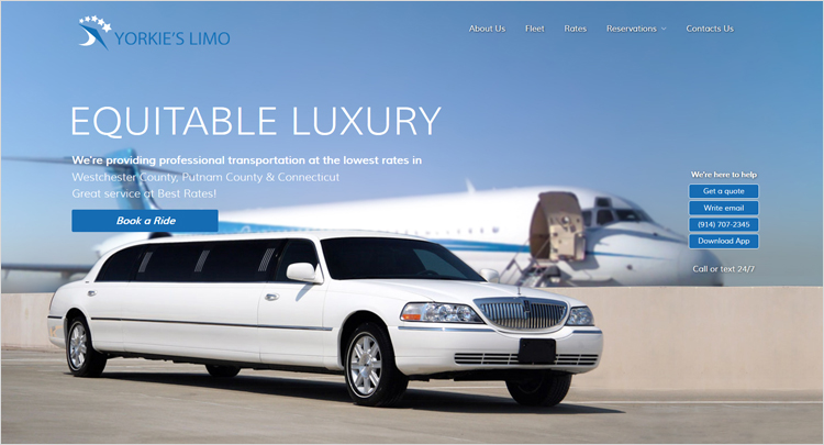 Web designer company created new and modern look for limo service